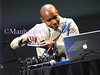 YPLC Arts & Technology 101 with Paul D Miller aka DJ Spooky : NEW YORK-MAY 21: Young Patrons of Lincoln Center   (YPLC) and the 101 Committee Present After Hours @ The Atrium: ARTS & TECHNOLOGY 101: Electronica at Lincoln Center with Paul D. Miller, aka  DJ Spooky  on Friday, May 21, 2010 at  the David Rubenstein Atrium at Lincoln Center, 62nd & Broadway, New York City, NY. The evening featured a Multi-Media Art and Music Experience including a Dialogue with the Artist.   DJ Spooky performed with Cellist  Claire Bryant  and Violinist Sarah Whitney.   After Hours Co-Chairs: Mali Sananikone Gaw, Zain Mikho, Andrew Schorr,  Jonathan Schorr, June Wu, Jeffrey Zurofsky. After Hours Committee: Juan Luis Betancourt Borges,  Elizabeth Cho, Emily Feinstein, Ken Grewal, Luke Haseloff,  Alejandro Legarda,  Charisse Luk, Jordan Metzl, Anya and Eric Roles, Jennifer Sale & Lucas Miller,  Janera Soerel,  Stephanie Wang, Veronica Wong.  Food and wine was graciously provided by  wichcraft, Belvedere Vodka,Moet & Chandon,  HobNob Wines and  Stella Artois.   These photos were taken by me as a guest with a point and shoot digital camera, largely without the use of any flash.  PHOTO CREDIT:Copyright ©Manhattan Society.com 2010 by  Christopher D.M. London   |  tel: Private  |e-mail: ChrisLondon@manhattansociety.com