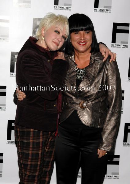 C.U.N.Y. Feminist Press Honor Cyndi Lauper & Eve Ensler at the 37th Anniversary Gala of The Feminist Press at City University of New York