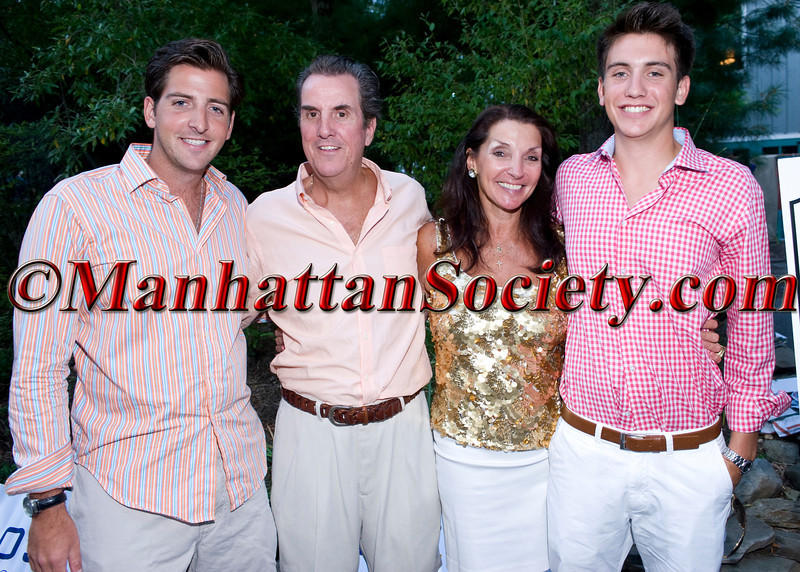 McEneaney Family attends First Pitch Cocktail Party to Celebrate Artists & Writers 62nd Anniversary Softball Game on Friday, August 13, 2010 at the Home of Debbie & Kevin McEneaney, Sag Harbor, New York  PHOTO CREDIT: ©Manhattan Society.com 2010 by Christopher London