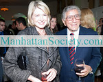 Martha Stewart and 2010 Sing for Hope Honoree Tony Bennett