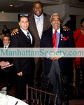 Governor David Paterson, Magic Johnson, Congressman Charles B. Rangel <br /> Photo: ManhattanSociety.com By Karen Zieff