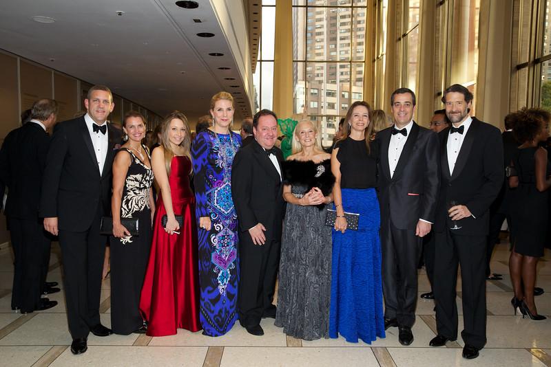 NY Philharmonic leadership with Gala Co-Chairmen Margo M  and James L  Nederlander & Gabriella and Antonio Quintella, and Board Member Karen LeFrak_Julie Skarratt